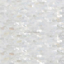 Interior Wall Mosaic Design Kitchen Backsplash Tiles White Raw Mother Of Pearl Shell