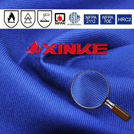 210g fr cotton flame retardant fabric for gas&oil suit