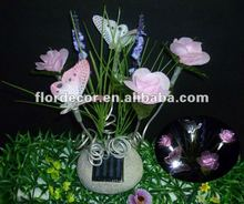 Solar fiber bouquet with butterfly SO4202