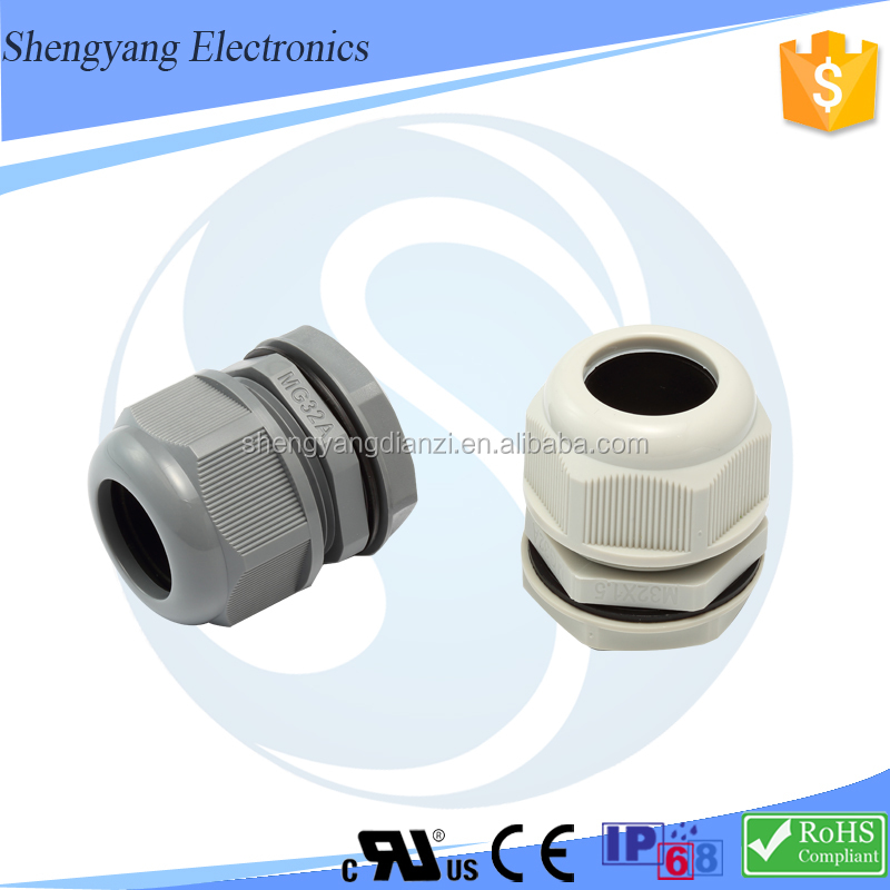 M20 Flanged Locknut Ip68 20mm Metric Nylon Cable Gland