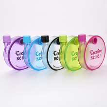 BZ001 creative round plastic kid water bottle