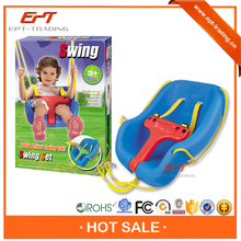 Top quality plastic indoor swing and slide set for kid
