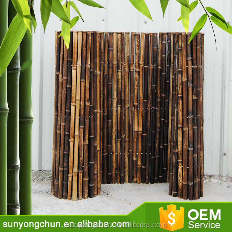 privacy pole white black garden cheap natural bamboo fencing roll