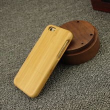 Laser engraving bamboo wood mobile phone case for iphone 5 6 6s plus, for galaxy s6 s7 edge wood case