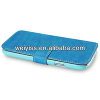 Light Blue PU Leather Wallet Phone Case Samsung i9300 Galaxy S3
