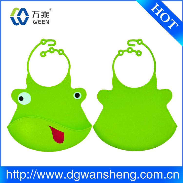silicone rubber fancy baby bibs/repetitively use silicon baby bib/promotion gift silicon baby bib