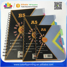 China School Stationery Notebook Spiral Notebook Dividers Books for Sale