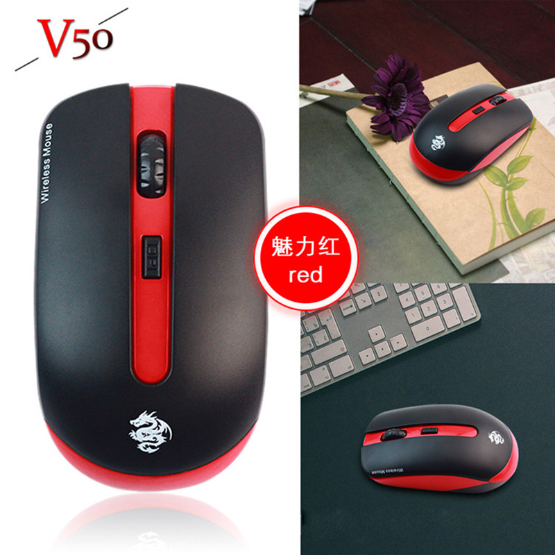 Portable Optical Wireless Mouse USB Receiver 2.4G For Desktop & Laptop PC Computer