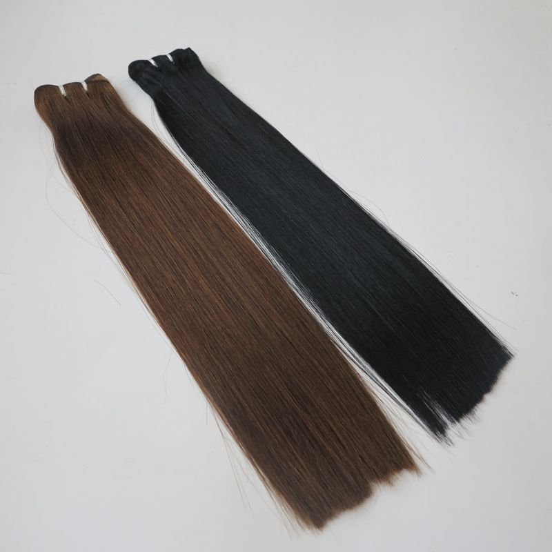Lasting long time 100% cuticle remy european platinum human hair weaving