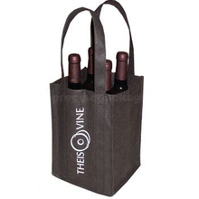 Non woven bottle bag recycled win carrier