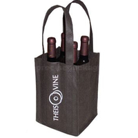 Non woven bottle bag recycled wine carrier
