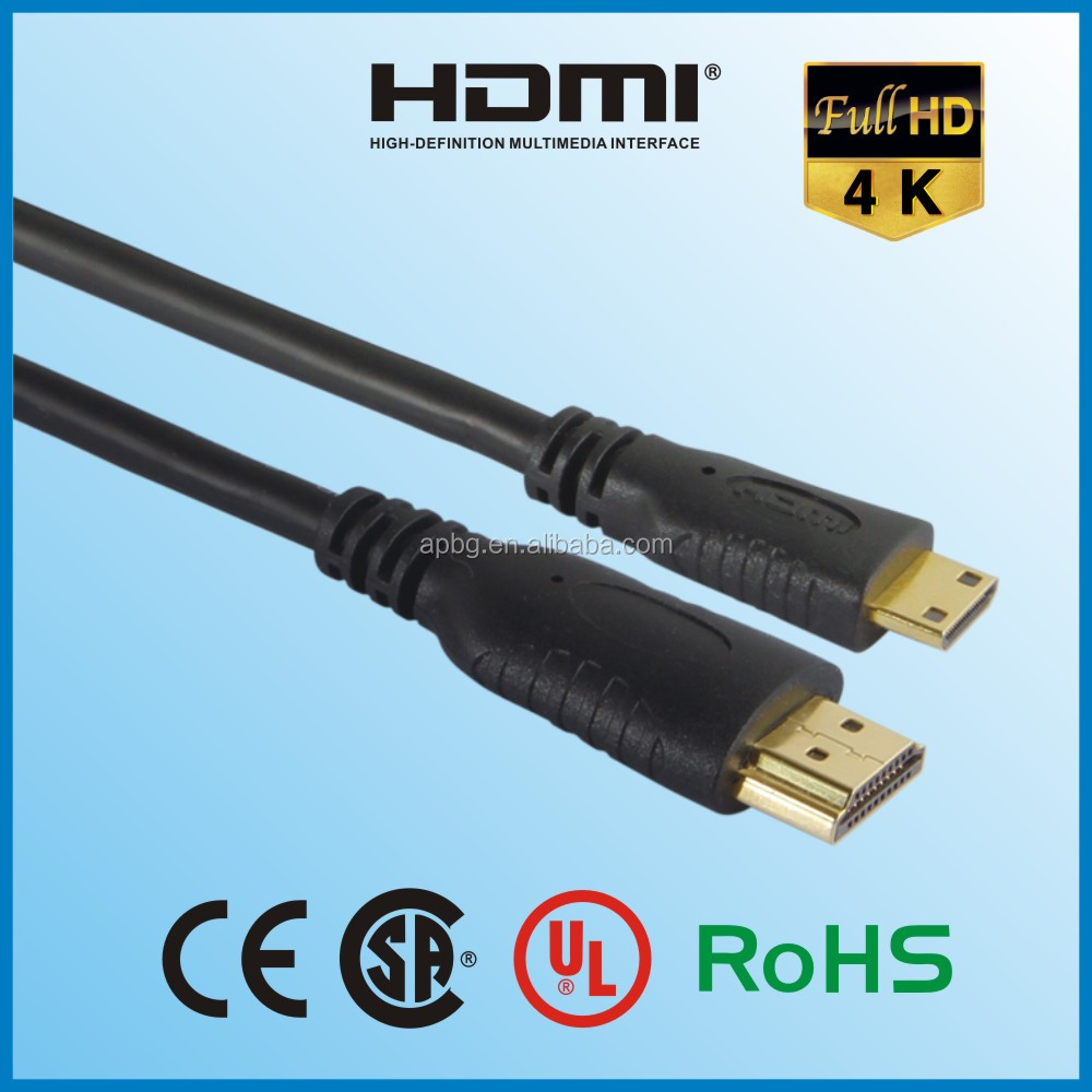 Wholesale HDMI to Mini HDMI cable HDMI A TO C gold plated connector V1.4.