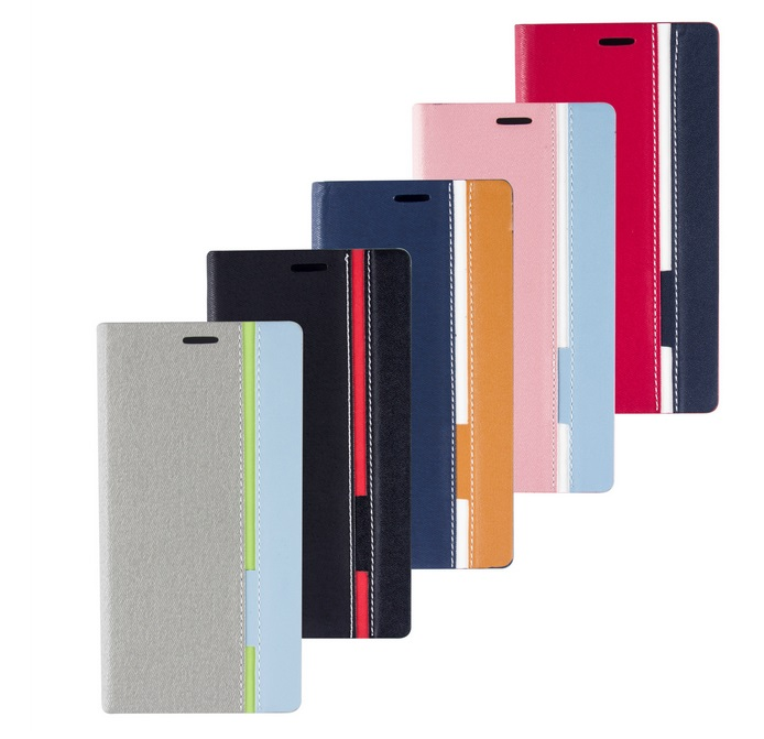 Factory price Wallet Style Linen cover Card Slot flip case for Elephone M2 TPU inside