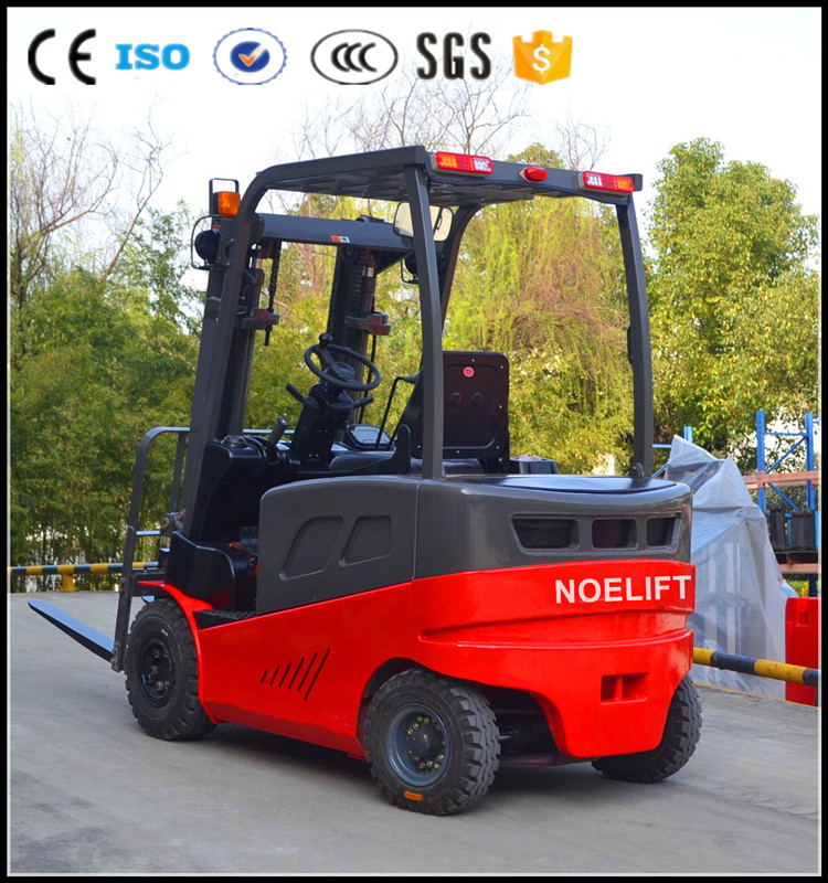 The latest model Four Wheel 1.5-3 ton forklift electric motor electric forklift truck