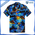 Hawaii Hangover Hawaiian Shirt Aloha Shirt in Sunset Blue Rayon