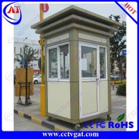 Stainless steel prefabricated houses for via parking lot military container sentry box