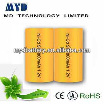 ni-cd sc1800mah 1.2v rechargeable battery