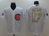 Men's Chicago Cubs Kris Bryant White 2017 Gold Program Cool Base Player Jersey