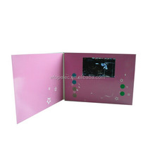 7 inch HD Digital Touch Screen OEM advertising business invitation video card/promotional video card/video wedding invitation
