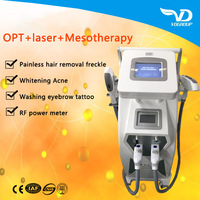 4in1 OPT E- light IPL RF(cooling+heat) YAG laser hair removal for multi treatments