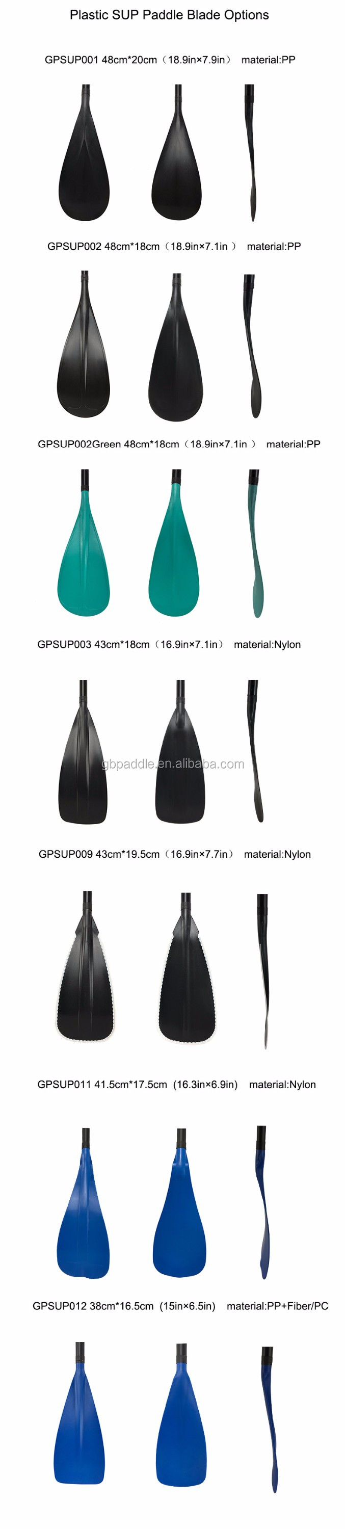 Hot selling ribbed fiber glass 3 piece stand up sup paddle