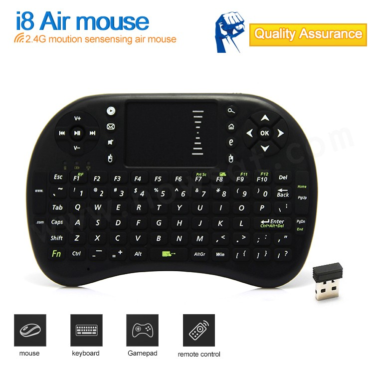 2016 sunsat High Quality I8 Fly Air Mouse And Mini Wireless Keyboard 2.4ghz Remote Control Hot Sale I8