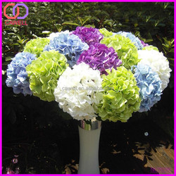 wholesale artificial flower polyester hydrangea pot