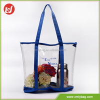 New China style reuse transparent waterproof recycle pvc tote bag