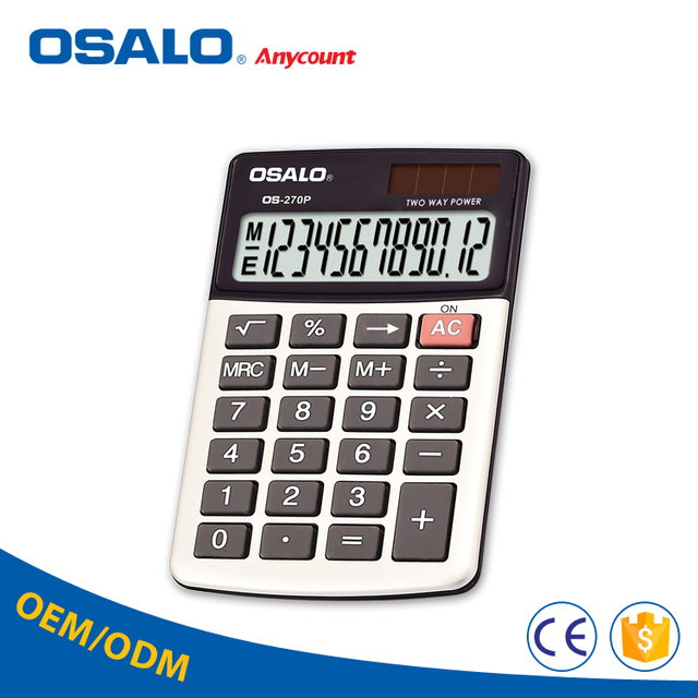 OS 270P rubber key lcd screen office accounting calculator for fractions