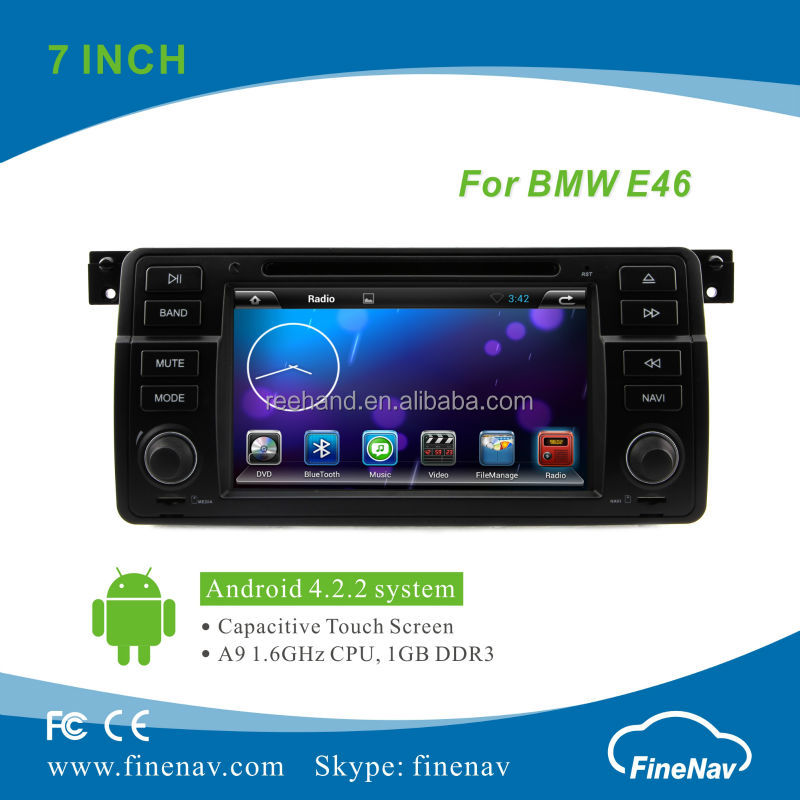 7inch Android 4.2.2 DVD Car for BMW 3 Series( E46) with Gps Navi,3G,Wifi,Bluetooth,Ipod,Free map Support Rear View Camera