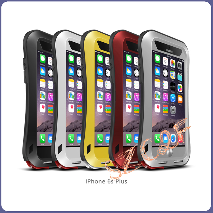 LOVE MEI Metal Aluminum Shockproof Dirtproof Waterproof Gorilla Glass Case Aluminum Metal Cover Case For Apple Phone