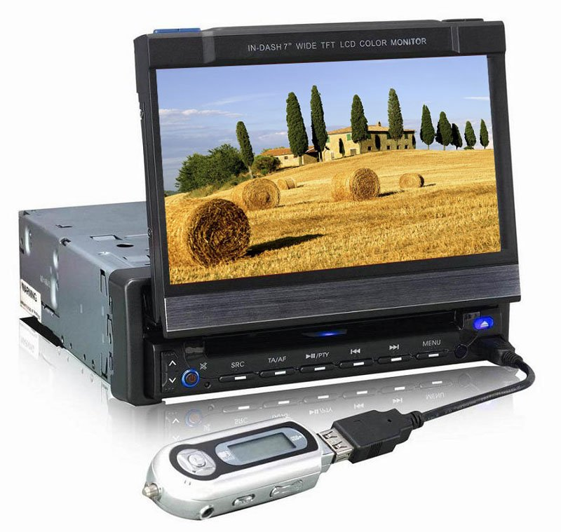 DAV-7813 In dash DVD Player With external GPS Navigation System