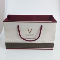 personalized custom luxury gift paper bag for wine