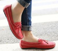 Women Loafers Flat Summer Comfortable Soft Genuine Leather shoes