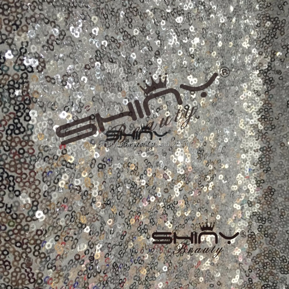 ShinyBeauty Silver-Sequin Backdrop CURTAIN-20FTx10FT Sequin Shimmer Fabric Photo Booth Background Curtains,OEM Welcomed