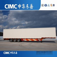 CIMC Long Vehicles Closed Type Van Box Truck Trailers for Dry Cargo or Grain