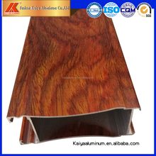 China supplier aluminium extrusion casement doors wooden grain door frame