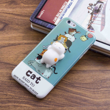 New arrival 3D design mobile phone cover cartoon squishy soft IMD phone case for iPhone 6 / 7