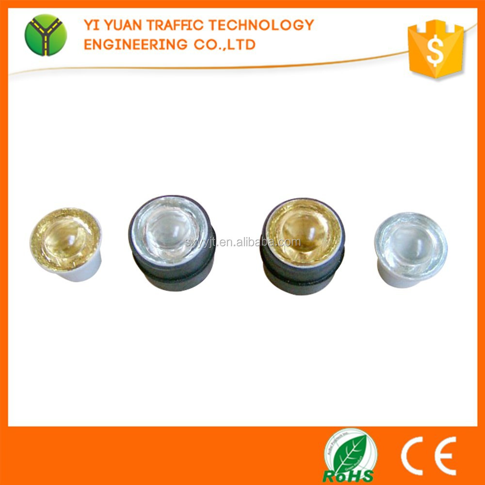 2017 colored tempered glass traffic reflector cat eye round road stud