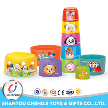 Hot popular plastic educational stacking cups for family game