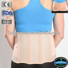 Breathable waist support with metal splints, orthopedic lumbar brace, lumbar spine back brace