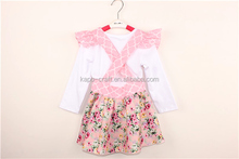 children clothes clothing sets baby outfits girls petti suit top with skirt set