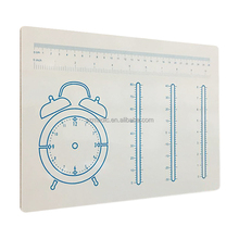 Single Sided Print Lapboard Alarm Clock Scale Teaching for Students Writing Board with Markers