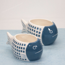 Fish Shape Ceramic Votive Candle Pots Holder For Sale