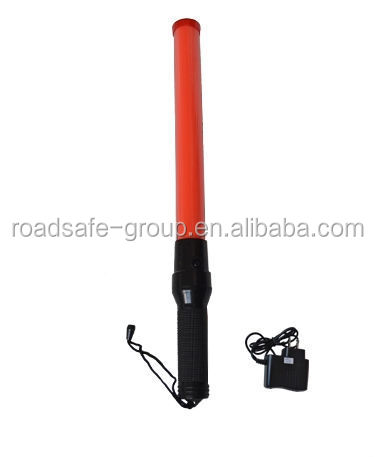 New Safety Yellow 6 LED Traffic Control Hand Held Signal Baton Wand Light