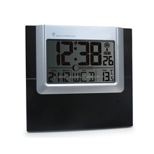 Multifunction Large Calendar Iron Shadow Redio Control Wall Clock