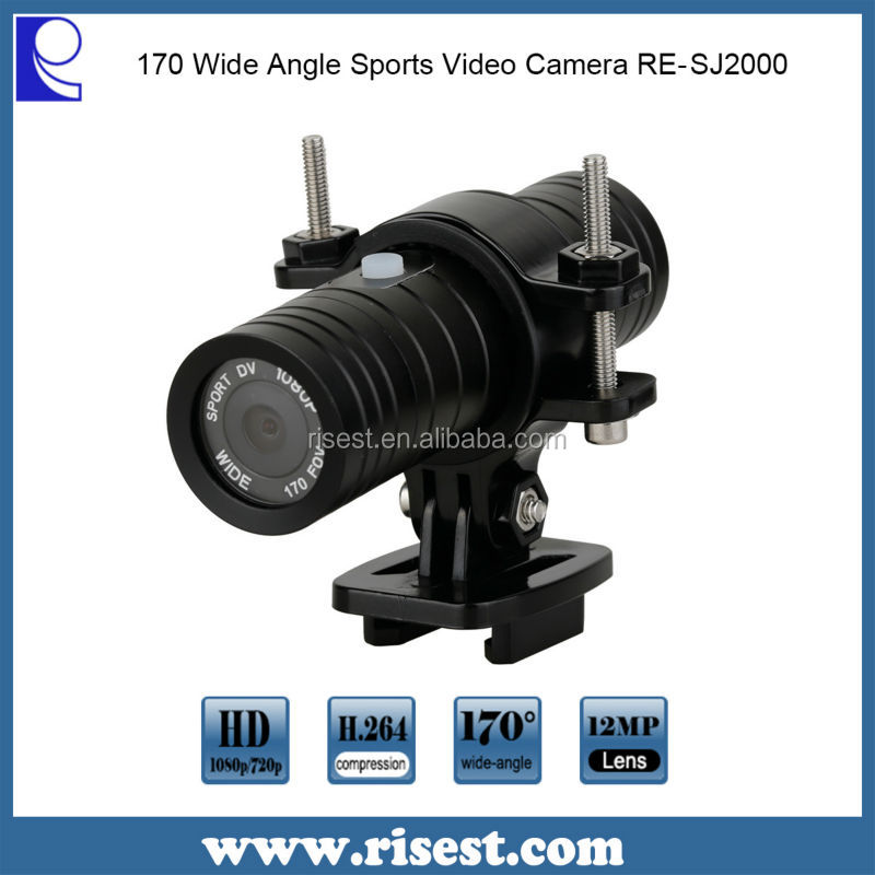 RE-SJ2000 1080P Digital Waterproof Motorcycle Cameras with 170 Degree Wide Angle