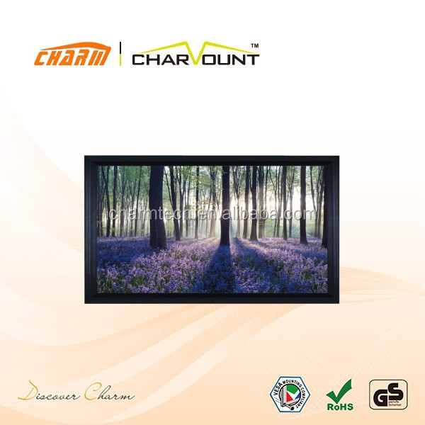Aluminum frame fixed frame screen with perfect tension surface