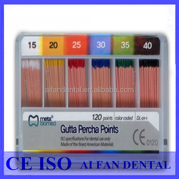AiFan Dental Hot Sale Meta Dental Gutta Percha Points Original Made In Korea