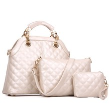 E1032 alibaba china suppliers 2014 woman tote fancy bags india 3pcs in 1